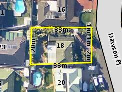Aerial photo of 18 Dawson Place Albion Park