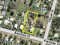 Aerial photo of 16 Barellan Street Ardlethan