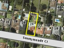 Aerial photo of 24 Sunnymeade Close Asquith