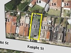 Aerial photo of 33 Knight Street Arncliffe