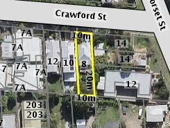Aerial photo of 8 Crawford Street Ashgrove