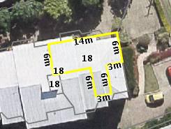 Aerial photo of 18 Bott Street Ashgrove