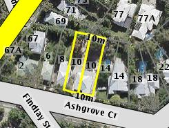 Aerial photo of 10 Ashgrove Crescent Ashgrove