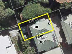 Aerial photo of 30 Bott Street Ashgrove