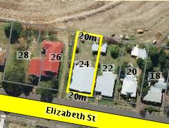 Aerial photo of 24 Elizabeth Street Aratula