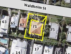 Aerial photo of 71 Waldheim Street Annerley