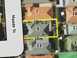Aerial photo of 9 Maude Street Allenby Gardens